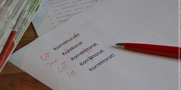 Ein fachmännisches Korrektorat überzeugt erfolgreich.